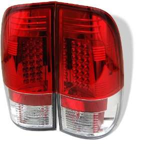 1997 2003 Ford F150 Styleside Red/Clear SR LED Tail Lights