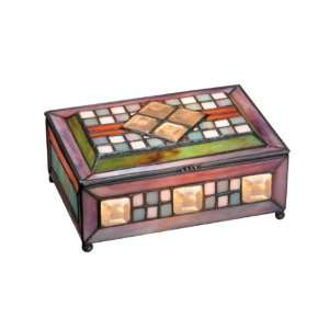 Dale Tiffany TG101124 Cranston Art Glass Jewel Box , 7 1/2