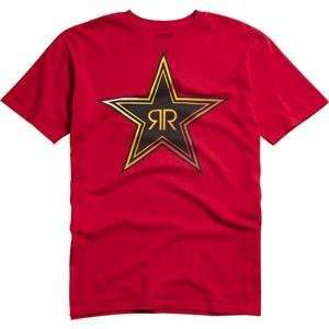 Fox Racing Rockstar Fades T Shirt   Medium/Red Automotive
