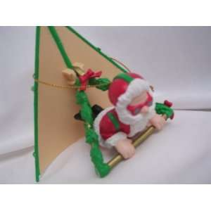 Hang Gliding Santa Christmas Ornament 3 Collectible