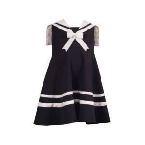 Girls Sailor Dress   Navy   Size 3 6 Month   E249982