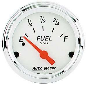 Auto Meter 1317 Arctic White Short Sweep Electric Fuel