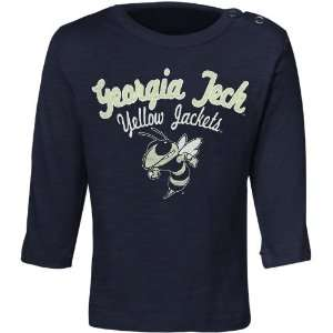 Georgia Tech Yellow Jackets Infant Navy Blue Bomber Long Sleeve T