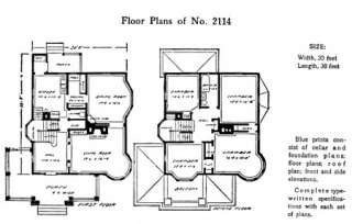 Arts & Crafts Mission Bungalow 150 Original Floor Plans