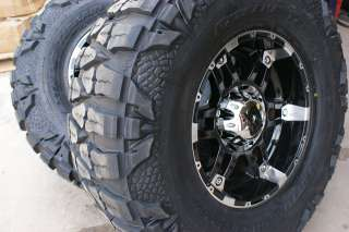 18 Inch XD Spy Wheels Rims Nitto Mud Grappler 33 Tires Chevy