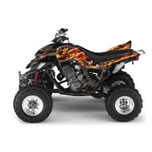 AMR Racing Yamaha Raptor 660 ATV Quad Graphic Kit   Firestorm Black