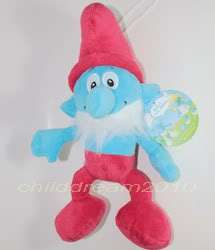 10The Smurfs Papa Smurf Soft Stuffed Plush Doll Toy