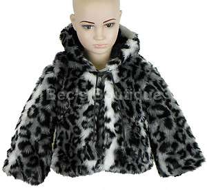 Jackets Coats Faux Animal Fur Childrens Winter Clothing Kids 2 10yr