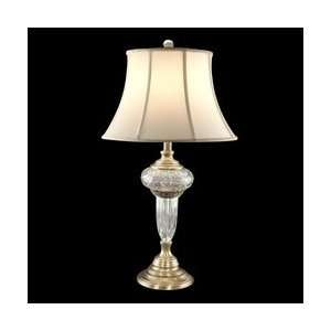 Dale Tiffany GT60647 Westminister Table Lamp, Antique Brass and Fabric