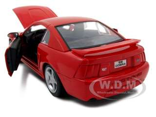 1999 FORD MUSTANG SVT COBRA RED 124 DIECAST MODEL CAR