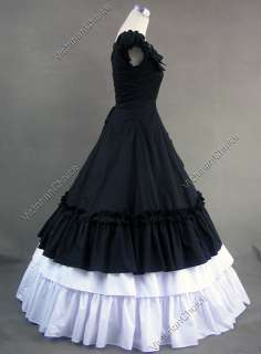 Southern Belle Cotton Ball Gown Prom Dress Punk Steampunk 208 S