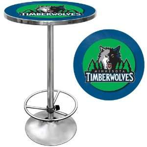 Minnesota Timberwolves NBA Chrome Pub Table   Game Room Products Pub
