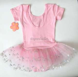 Girl New Pink Ballet Tutu Skirt Dance Dress SZ 4 5 6 8