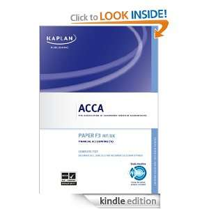 ACCA Complete Text   F3 Financial Accounting eBook Kaplan