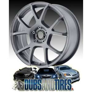 18 Inch 18x8 MOTEGI RACING wheels MR121 TITANIUM Gray wheels rims