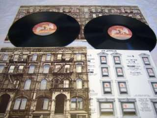LED ZEPPELIN Physical Graffiti 2LP 1975 + Inserts VG++