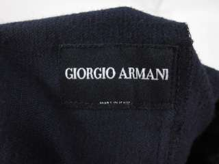 GIORGIO ARMANI Mens Navy Cotton Corduroy Pants Size 46