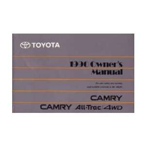 1990 TOYOTA CAMRY Owners Manual User Guide Automotive