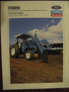 Ford 7209 7210 7410 7412 Tractor Loader Sales Brochure 89