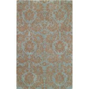 Capel   Piedmont   Floral Damask Area Rug   2 x 3   Spa