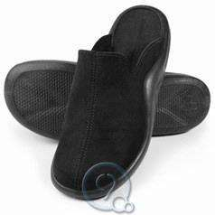 Mens Walk On Air Indoor Outdoor Slippers Shoes Black Size 12 12.5
