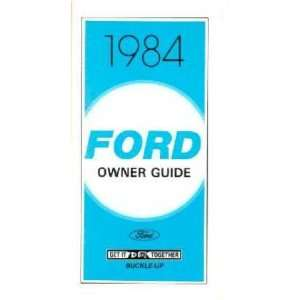 1984 FORD CROWN VICTORIA Owners Manual User Guide Automotive