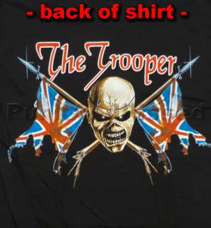 Iron Maiden   The Trooper allover print t shirt   Official   FAST SHIP