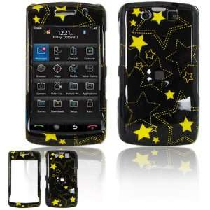 Black/Yellow Stars Design 2 Piece Hard Case for BlackBerry
