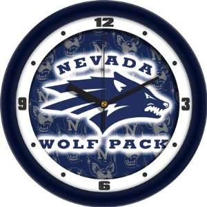 Nevada Wolf Pack NCAA 12In Dimension Wall Clock Sports