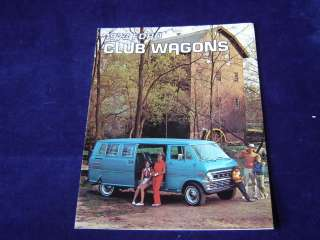 S37 1973 FORD CLUB WAGON WAGONS Truck Sales Brochure *