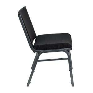 Hercules Series Big and Tall Extra Wide Stack Chair Upholstery Black