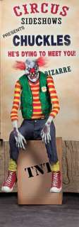 Lifesize Chuckles Clown Animated Halloween Prop