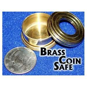 Brass Coin Safe Money Magic Trick Close Up Illusion Toy