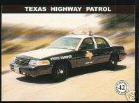 TEXAS STATE POLICE HIGHWAY PATROL TROOPER FORD Car Card