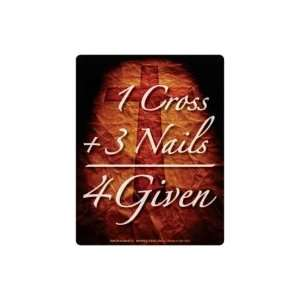 Jesus Faith Christianity Car Fridge Magnet 1 Cross + 3 Nails  4 Given