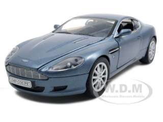 2004 ASTON MARTIN DB9 BLUE 124 DIECAST MODEL CAR