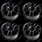 Asuka Gloss Black Red Stripe Wheels 17x7.5 Inches PCD 4x100 114.3  4pc