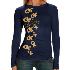 NCAA My U Georgia Tech Yellow Jackets Ladies Navy Blue Elemental Long