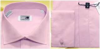 Steven Land Cutaway Collar 20 34/35 French Cuff Lilac Dress Shirt