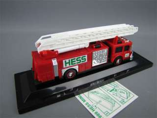 HESS Mini 1999 RED FIRE TRUCK Toy Model Original Box