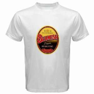 Beamish Irish Stout Beer Logo New White T Shirt Size  L