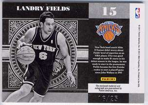 Landry Fields AUTO National Treasures COLOSSAL Prime Patch #16/25 NY
