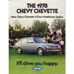 1978 CHEVROLET CHEVETTE Sales Brochure Literature Book