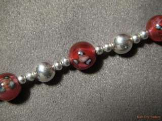 Jordan Sterling Silver & Art Glass Bead Necklace   15