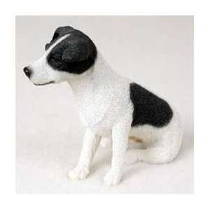 Jack Russell Terrier Dog Figurine   Black & White