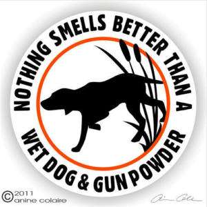 Funny Bird Dog Hunting Gun Dog Decal Sticker 145