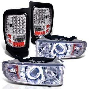 Eautolight 94 01 Dodge Ram Halo LED Projector Head Lights