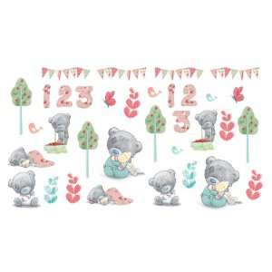 FunToSee Tiny Tatty Teddy Room Decals, Vintage Baby