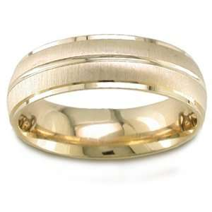 ARTCARVED HAMMOND Mens 14k Two Tone Gold Wedding Band ArtCarved