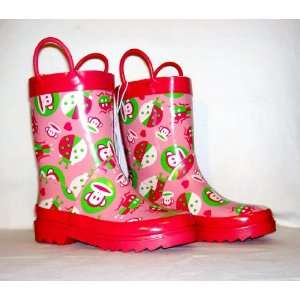 Toddler Girls Pink Rain Boots Size Medium (L 11/12)